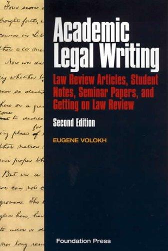 Academic Legal Writing