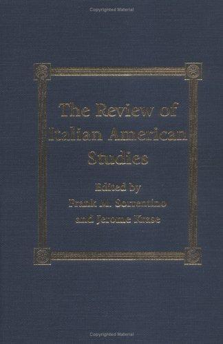The review of Italian-American studies by Frank M. Sorrentino, Jerome Krase