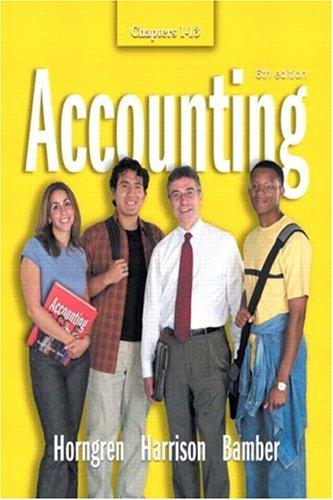 Accounting  Chapters 1-13 (6th Edition)