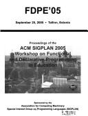 Fdpe '05 by ACM Special Interest Group on Programmin