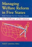 Managing Welfare Reform in Five States